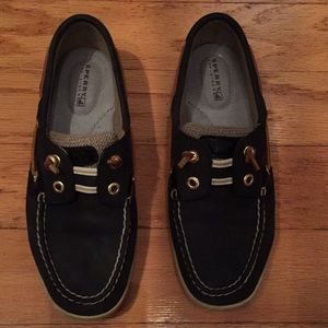 Sperry navy boat shoes nwot size 6 navy leather